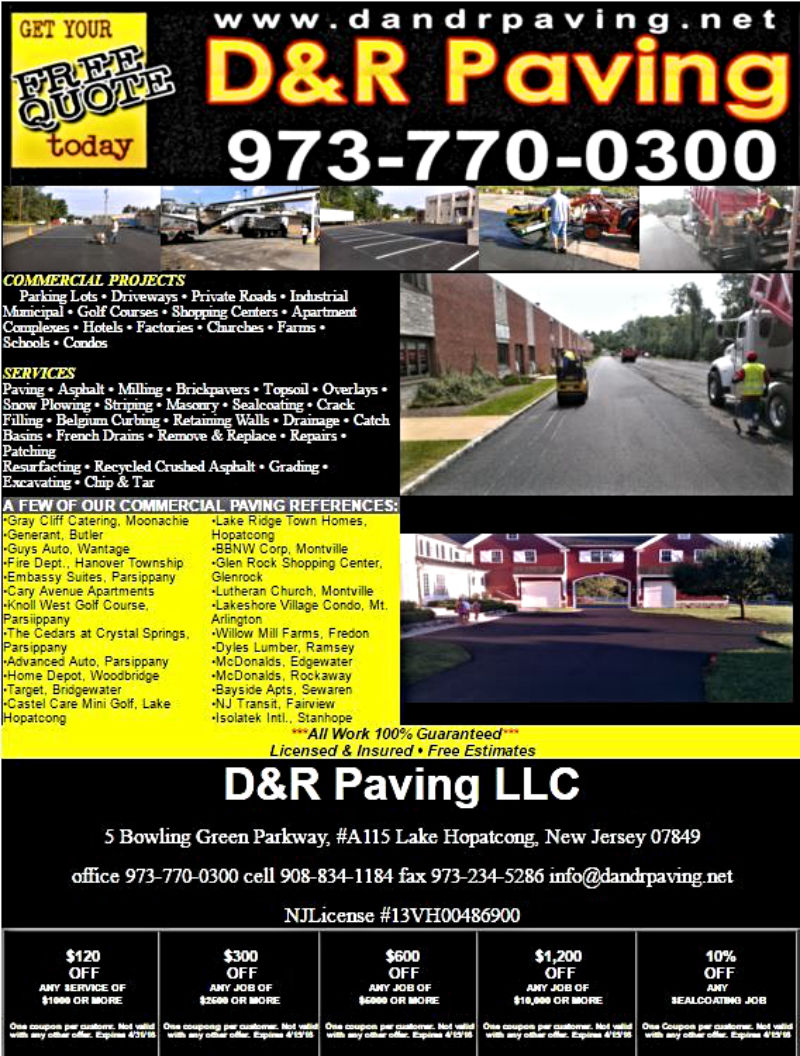 Commercial Paving Contractor In New Jersey Jpg 800x1056 Sussex Flyer Sparta Nj Job Lot